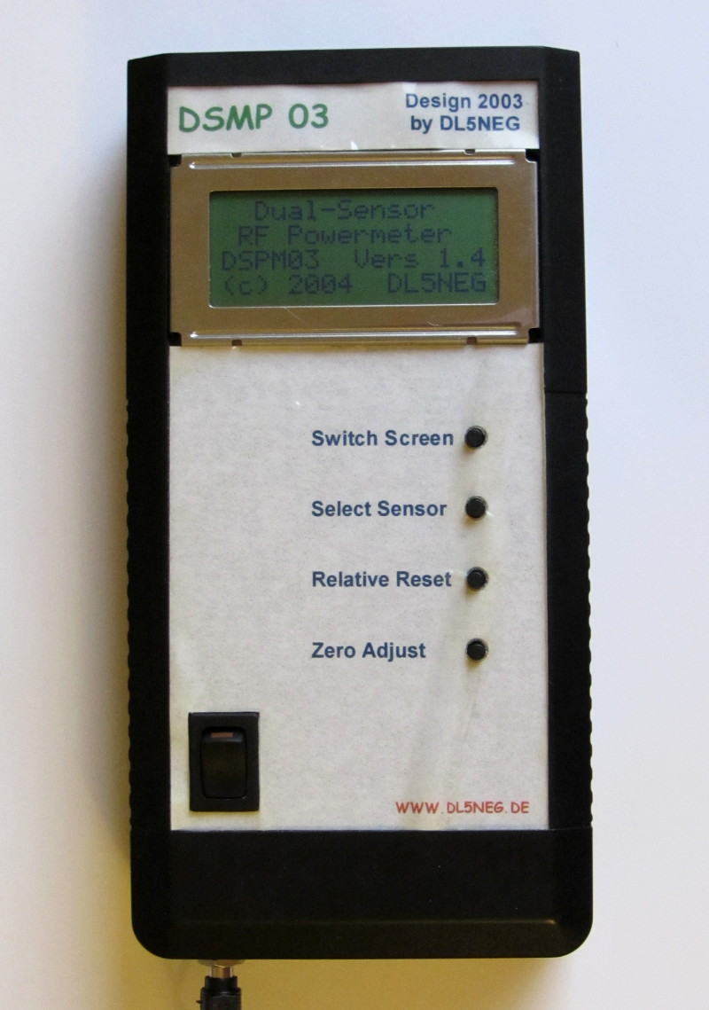 Handheld Rf Power Meters Herbert Dingfelder Dl5neg In Circuit As Well Battery Rc Watt Meter Schematic Additionally Dc Dspm03 Front View