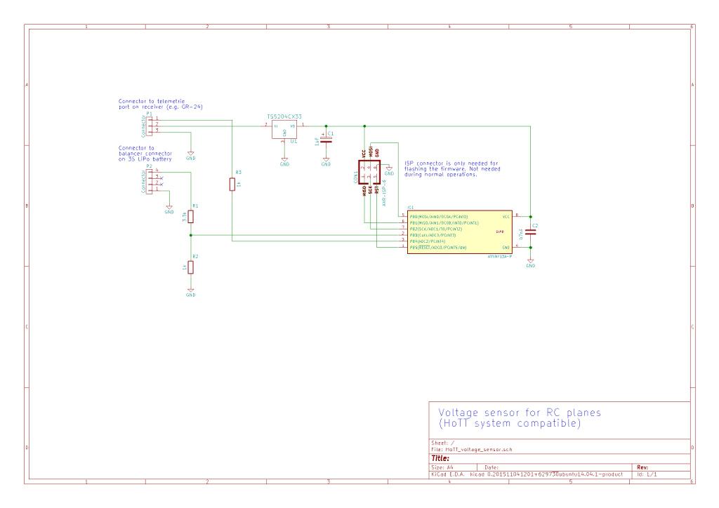 rc voltage sensor  graupner hott compatible